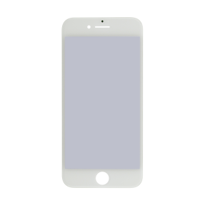 Glass Lens Screen, Frame, OCA and Polarizer Assembly For iPhone 7 (CPG)(White)