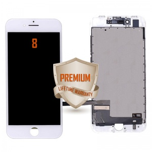 LCD Assembly For iPhone 8 (Premium Quality) (White)