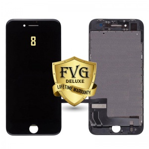 LCD Assembly For iPhone 8 (Deluxe Quality Aftermarket, Made By FVG) (Black)