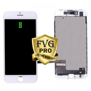 LCD Assembly For iPhone 8 (Deluxe Quality Aftermarket, Made By FVG PRO) (White)
