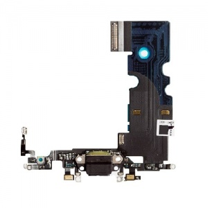 Charging Port Flex Cable For iPhone 8 (Black)(Premium)