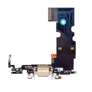 Charging Port Flex Cable For iPhone 8 (Gold)(Premium)