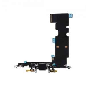 Charging Port Flex Cable For iPhone 8 Plus (Black)