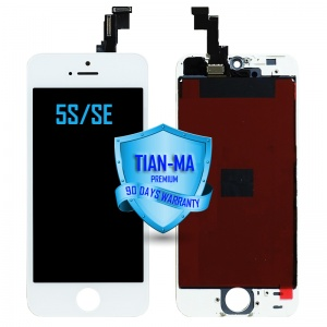 LCD Assembly For iPhone 5S/SE (Premium Quality Aftermarket, Made by Tian-Ma) (White)