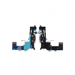 Charging Port Flex Cable (Black) For iPhone SE