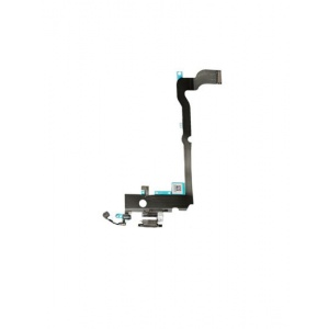 Charging Port Flex Cable For iPhone XS Max (Premium) (Silver)