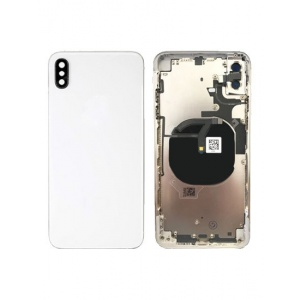 Back Housing W/ Small Components Pre-Installed for iPhone XS Max  (Silver)