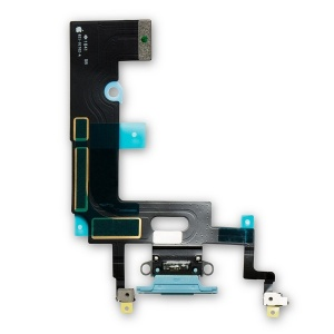 Charging Port Flex Cable For iPhone XR (Premium) (Blue)