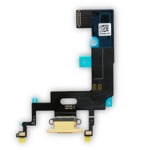 Charging Port Flex Cable For iPhone XR (Premium) (Yellow)