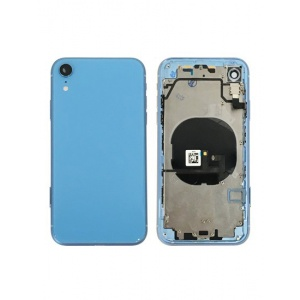 Back Housing W/ Small Components Pre-Installed for iPhone XR (Blue)