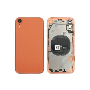 Back Housing W/ Small Components Pre-Installed for iPhone XR (Coral)