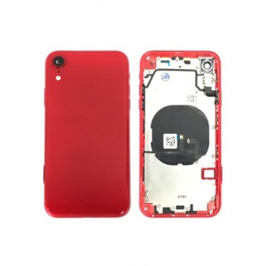 Back Housing W/ Small Components Pre-Installed for iPhone XR (Red)