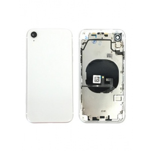 Back Housing W/ Small Components Pre-Installed for iPhone XR (Silver)