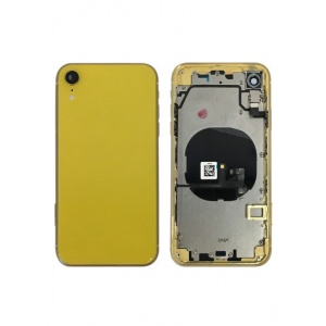 Back Housing W/ Small Components Pre-Installed for iPhone XR (Yellow)