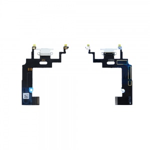 Charging Port Flex Cable For iPhone XR (Premium) (White)