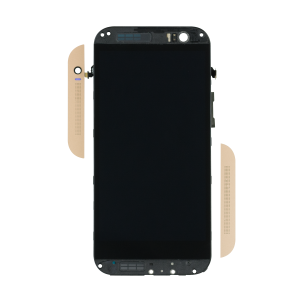 Display Assembly with Frame For HTC One (M8) (Gold)