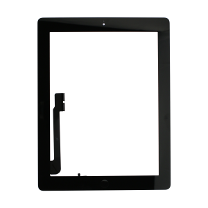 Touch Screen Digitizer with Home Button Assembly (Black) (Premium) For iPad 4