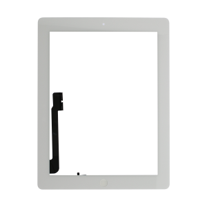 Touch Screen Digitizer with Home Button Assembly (White) (Premium) For iPad 4