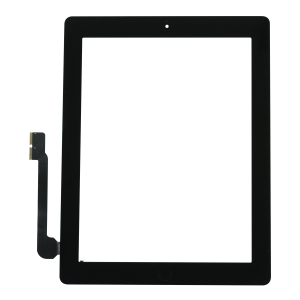 Touch Screen Digitizer with Home Button Assembly (Black) For iPad 4