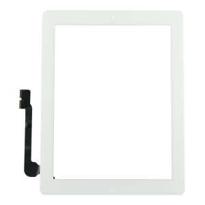 Touch Screen Digitizer with Home Button Assembly (White) For iPad 4