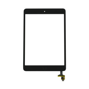 Touch Screen with Home Button Assembly and IC Chip For iPad Mini 2 (Black)