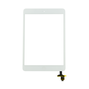 Touch Screen with Home Button Assembly and IC Chip For iPad Mini 2 (White)