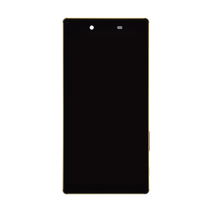 Premium Display Assembly with Frame - Black/Gold For Sony Xperia Z5