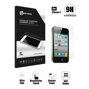 Tempered Glass with Retail Package - Clear For iPhone 4/4S
