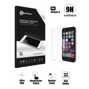Tempered Glass in Retail Packaging - Clear For iPhone 5