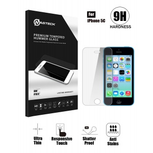 Tempered Glass in Retail Packaging For iPhone 5C - Clear