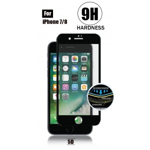 Tempered Glass For iPhone 8 - 5D Curve (Black)