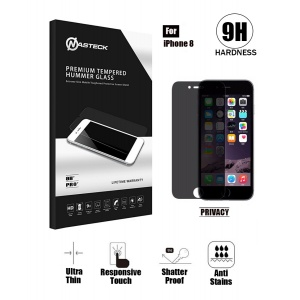 Tempered Glass in Retail Packaging For iPhone 8 (Curve Edge) - Privacy
