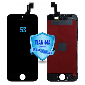 LCD Assembly For iPhone 5S (Supreme Quality Aftermarket, Made by Tian-Ma) (Black)