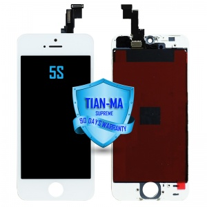 LCD Assembly For iPhone 5S (Supreme Quality Aftermarket, Made by Tian-Ma) (White)