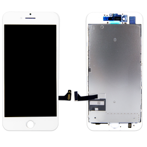 LCD Assembly With Pre-Installed Back Plate (Supreme Quality Aftermarket, Made by AUO) (White) For iPhone 7