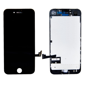 LCD Assembly With Pre-Installed Back Plate (Supreme Quality Aftermarket, Made by AUO) (Black) For iPhone 7