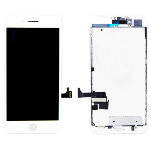 LCD Assembly With Pre-Installed Back Plate (Supreme Quality Aftermarket, Made by AUO) (White) For iPhone 7 Plus