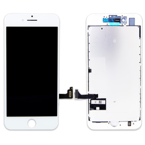 LCD Assembly With Pre-Installed Back Plate (Supreme Quality Aftermarket, Made by AUO) (White) For iPhone 8