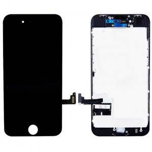 LCD Assembly With Pre-Installed Back Plate (Supreme Quality Aftermarket, Made by AUO) (Black) For iPhone 8