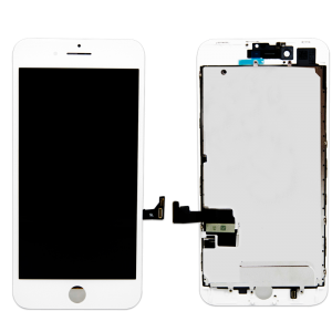 LCD Assembly With Pre-Installed Back Plate (Supreme Quality Aftermarket, Made by AUO) (White) For iPhone 8 Plus