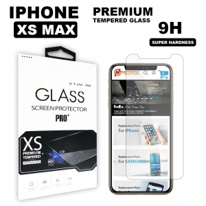 Tempered Glass For iPhone XS Max (6.5 inch) in Retail Package - Clear