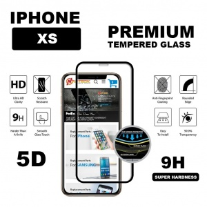 Tempered Glass For iPhone XS (5.8 inch) - 5D Curve (Black)