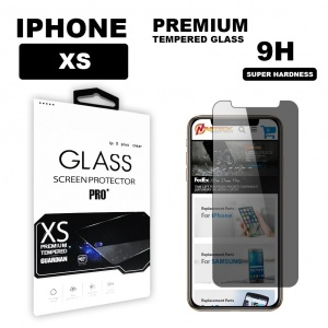 Tempered Glass For iPhone XS (5.8 inch) in Retail Packaging - Privacy