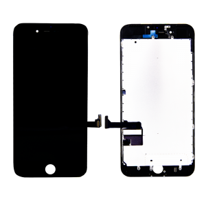LCD Assembly With Pre-Installed Back Plate (Supreme Quality Aftermarket, Made by AUO) (Black) For iPhone 7 Plus