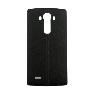 Genuine Leather Rear Battery Cover with NFC Antenna For LG G4 (Black)