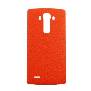 Genuine Leather Rear Battery Cover with NFC Antenna For LG G4 (Orange)