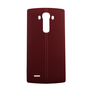 Genuine Leather Rear Battery Cover with NFC Antenna For LG G4 (Red)