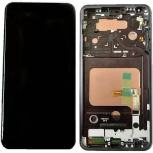 Display Assembly with Frame (Black) For LG V30