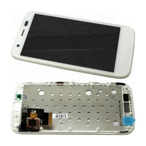 Display Assembly with Frame (White) For Motorola Moto G (2nd Gen)