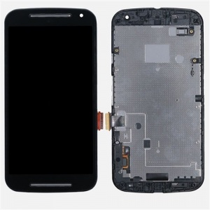 Display Assembly with Frame (Black) For Motorola Moto G (2nd Gen)